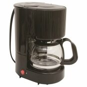 RDI-USA 4-CUP COFFEE MAKER WAITH CARAFE IN BLACK