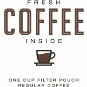 REGULAR INDIVIDUALLY WRAPPED SINGLE-CUP FILTER POD FRESH COFFEE INSIDE (200 PER CASE)