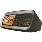 TIMEX ALARM CLOCK RADIO WITH PRESET TUNING AND DUAL USB CHARGING
