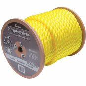 KINGCORD 3/4 IN. X 150 FT. YELLOW TWISTED POLYPROPYLENE ROPE
