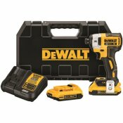 20-VOLT MAX LITHIUM-ION CORDLESS BRUSHLESS 1/4 IN. 3-SPEED IMPACT DRIVER WITH (2) BATTERIES 2.0AH, CHARGER AND HARD CASE - DEWALT PART #: DCF887D2