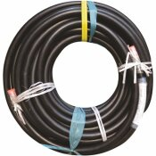 ENERCO 1.25 IN. X 12 FT. HIGH PRESSURE LIQUID PROPANE GAS RUBBER HOSE ASSEMBLY WITH MNPT X MNPT