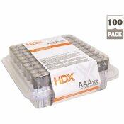 HDX ALKALINE AAA BATTERY (100-PACK)