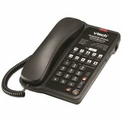 VTECH CLASSIC 1-LINE CORDED PHONE IN MATTE BLACK
