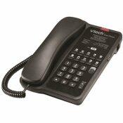 VTECH CLASSIC 1-LINE CORDED LITE PHONE IN MATTE BLACK