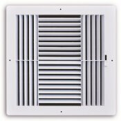 TRUAIRE 6 IN. X 6 IN. 4-WAY PLASTIC WALL/CEILING REGISTER