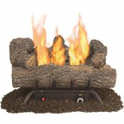 PLEASANT HEARTH SOUTHERN OAK 19.75 IN. VENT-FREE DUAL FUEL GAS FIREPLACE LOGS