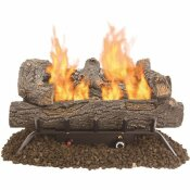 PLEASANT HEARTH SOUTHERN OAK 24.25 IN. VENT-FREE DUAL FUEL GAS FIREPLACE LOGS