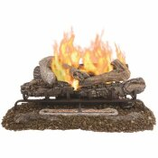 PLEASANT HEARTH VALLEY OAK 30 IN. VENT-FREE DUAL FUEL GAS FIREPLACE LOGS WITH REMOTE