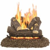 PLEASANT HEARTH WILLOW OAK 24 IN. VENTED GAS LOG SET