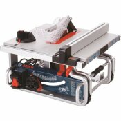 BOSCH 15 AMP 10 IN. CORDED PORTABLE WORKSITE BENCH TABLE SAW WITH SMART GUARD SYSTEM AND 24-TOOTH CARBIDE SAW BLADE