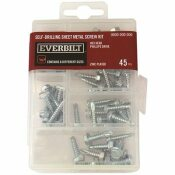 EVERBILT 45-PIECE ZINC-PLATED SELF-DRILLING SHEET METAL SCREW KIT