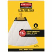RUBBERMAID COMMERCIAL PRODUCTS REPLACEMENT SPILL MOP PAD (10-PACK)