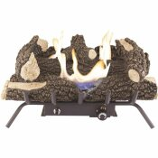 PLEASANT HEARTH WILDWOOD 24 IN. VENT-FREE DUAL FUEL GAS FIREPLACE LOGS