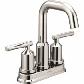 MOEN GIBSON 4 IN. CENTERSET 2-HANDLE HIGH-ARC BATHROOM FAUCET WITH POP-UP ASSEMBLY IN CHROME - MOEN PART #: 6150