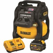 DEWALT FLEXVOLT 2.5 GAL. 60-VOLT MAX BRUSHLESS CORDLESS ELECTRIC AIR COMPRESSOR KIT WITH BATTERY 2 AH AND CHARGER