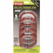 RYOBI 0.095 IN. X 16 FT. PRE-CUT SPIRAL LINE (5-PACK)