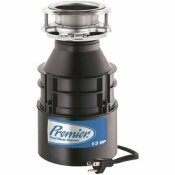 PREMIER 1/3HP CONTINUOUS FEED GARBAGE DISPOSAL WITH FACTORY INSTALLED POWER CORD