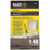 KLEIN TOOLS 1-48 NUMBERS WIRE MARKER BOOK