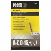 KLEIN TOOLS LETTERS, NUMBERS AND SYMBOLS WIRE MARKER BOOK IN BLACK