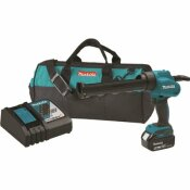 MAKITA 10 OZ. 18-VOLT LITHIUM-ION CORDLESS CAULK AND ADHESIVE GUN KIT WITH ONE 5.0AH BATTERY RAPID CHARGER AND TOOL BAG