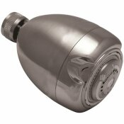 NIAGARA CONSERVATION EARTH 3-SPRAY 2.7 IN. SINGLE WALL MOUNT FIXED 1.5 GPM SHOWER HEAD IN BRUSHED NICKEL