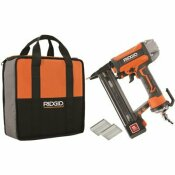 RIDGID 18-GAUGE 1-1/2 IN. FINISH STAPLER, CONTRACTOR'S BAG AND (200) STAPLES