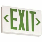 LITHONIA LIGHTING CONTRACTOR SELECT EXG SERIES 120/277-VOLT INTEGRATED LED WHITE AND GREEN EXIT SIGN