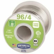 WORTHINGTON 16 OZ. 96/4 LEAD FREE SOLDER
