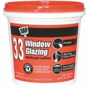 DAP 33 1 QT. WHITE WINDOW GLAZING - DAP PART #: 12123