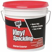 DAP 128 OZ. READY-TO-USE VINYL SPACKLING IN WHITE (2-PACK)