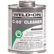 IPS CORPORATION WELD-ON C-65 PIPE CLEANER FOR ABS, PVC, CPVC, AND STYRENE, CLEAR, 1/4-PINT