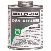 WELD-ON 8 OZ. PVC-CPVC C65 CLEANER IN CLEAR