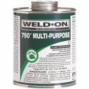 WELD-ON 8 OZ. PVC 790 MULTI-PURPOSE CEMENT IN CLEAR - WELD-ON PART #: 10259