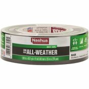 NASHUA TAPE 1.89 IN. X 60 YD. 398 ALL-WEATHER HVAC DUCT TAPE IN BLACK - NASHUA TAPE PART #: 1526489
