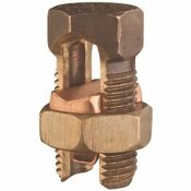 SPLIT BOLT CONNECTOR, EQUAL MAIN AND TAP 6 SOLID TO 8 SOLID, CONDUCTOR MINIMUM TAP WITH 1 MAXIMUM MAIN 14 SOLID