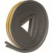 FROST KING 5/16 IN. X 1/4 IN. X 17 FT. GREY D-CENTER EPDM MEDIUM GAP WEATHERSEAL TAPE - FROST KING PART #: V25GA