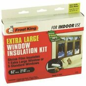 FROST KING 62-IN X 210-IN CLEAR PLASTIC EXTRA LARGE INDOOR SHRINK WINDOW KIT - FROST KING PART #: V75H
