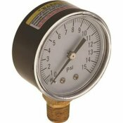 PROPLUS 0 TO 15 PSI WATER PRESSURE GAUGE, 2 IN. FACE