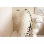 MOEN 58.4 IN. CURVED SHOWER ROD IN BRUSHED STAINLESS STEEL