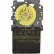 INTERMATIC T100 SERIES 120-VOLT 24-HOUR INDOOR/OUTDOOR MECHANICAL TIMER SWITCH MECHANISM ONLY SPST, GRAY/METAL