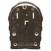 HUBBELL WIRING R SB 30 AMP-50 AMP 3-POLE 4-WIRE ANGLE ANGE AND DRYER PLUG, BLACK