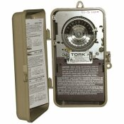 TORK 40 AMP 24-HOUR INDOOR/OUTDOOR MECHANICAL TIME SWITCH FOR SAME TIME EVERY DAY
