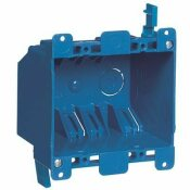 CARLON 2-GANG 25 CU. IN. BLUE PVC OLD WORK ELECTRICAL SWITCH AND OUTLET BOX