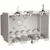 LEGRAND PASS & SEYMOUR SLATER OLD WORK PLASTIC 3 GANG SWING BRACKET SWITCH AND OUTLET BOX WITH QUICK/CLICK