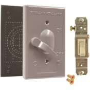 BELL 1-GANG GRAY WEATHERPROOF TOGGLE SWITCH COVER ASSEMBLY