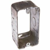 RACO 1-7/8 IN. DEEP SINGLE GANG DRAWN HANDY BOX EXTENSION RING WITH 1/2 IN. KO'S