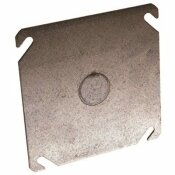 RACO 4 IN. SQUARE COVER FLAT WITH 1/2 IN. CENTER KO