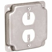 RACO 4 IN. SQUARE EXPOSED WORK COVER FOR DUPLEX RECEPTACLE