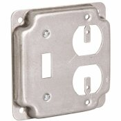RACO 4 IN. SQUARE EXPOSED WORK COVER, DUPLEX/TOGGLE